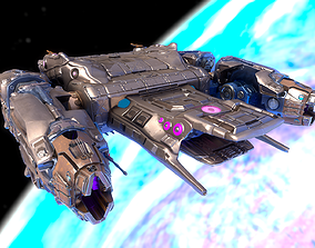 Sci-fi Battle Spaceship Essenor-Rigged 3D model