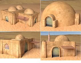 3D asset Tatooine Buildings