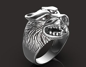 jewellery 3D printable model Wolf ring