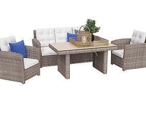 3D model Belluno Outdoor Furnitures Set