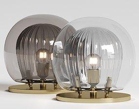 3D Marc Wood Studio Pleated Crystal Table Lamp
