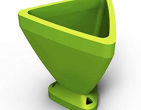 Triangular Flowerpot 3D print model