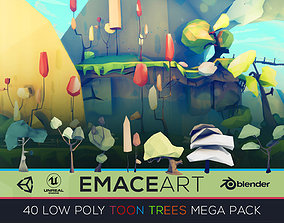 Low Poly Nature Project - Starter Trees Pack 3D asset 2