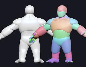 3D model Dwarf stylized base mesh
