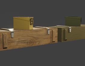 3D model PBR ammo box