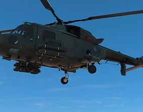 3D model Lynx Wildcat AW159 British Army Helicopter