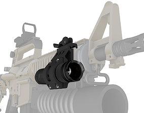 Quick Mount Flashlight tactical rifle 3D print model