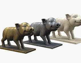 Pig Sculpture 3D asset