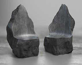 Rock Stone Obelisk Sofa Chair 3D Model realtime