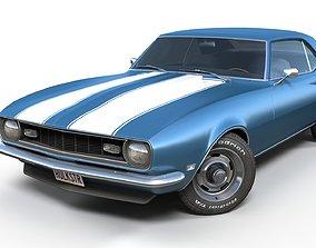 American generic muscle car 3D asset PBR