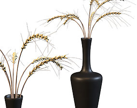 3D asset realtime Decorative bouquet of ears of wheat