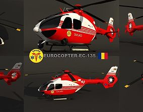 Eurocopter EC-135 Smurd 3D model low-poly