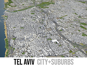 3D model Tel Aviv - city and surroundings
