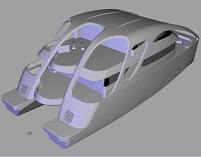 3D model Catamaran maritime