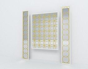 Decorative mirror panel 3D model