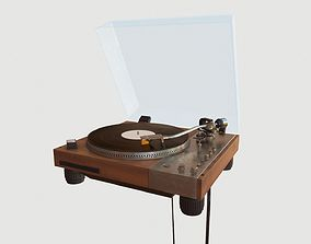 Vinyl Player 3D asset