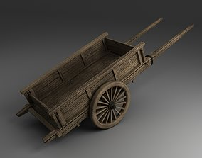Old Wheel Barrow 3D model