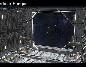 3D model Scifi Modular Hangar