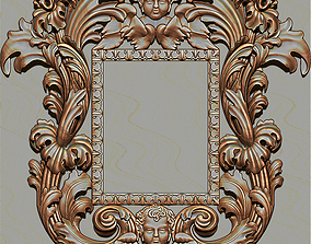 Mirror classical carved 3D printable model