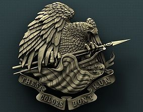 3d STL Model for CNC Router American Eagle and Flag