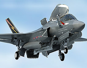 3D model US Air Force F-35 BF-1 Lightning II STOVL with 1