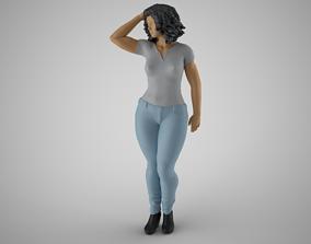 Woman City Mood 3D printable model
