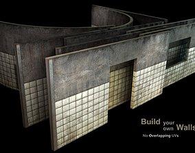 3D model Wall - set D