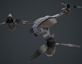 Trirotor drone PBR 3D asset