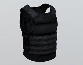 3D asset realtime Bullet Proof Armor Plate Soft Vest PBR