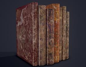 Medieval Books Row 1 Design 2 3D model