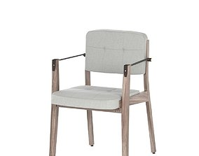 3D model NERI and HU 780S Capo Dining Armchair