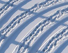 Winter footpath02 16 meters seamless 3D model