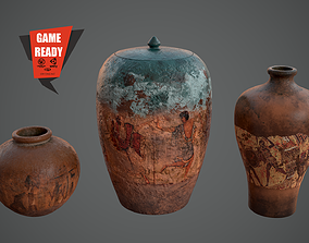 3D asset CLAY POTS ANCIENT Game Ready