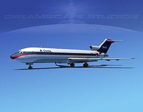 3D model Boeing 727-200 Delta Airlines 2