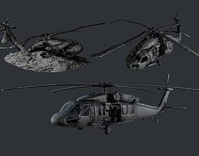 3D asset Sikorsky UH60 Black Hawk Military 4