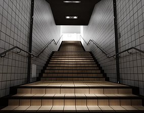 Stairway Model 3D asset