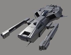 3D model Space Ship SF