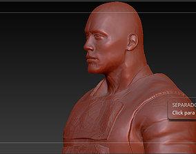 dwayne Johnson - Luke hobes this is 3D printable model 4