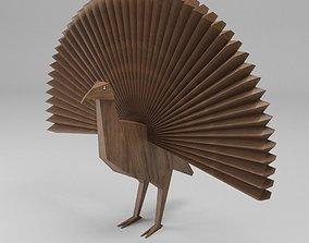 wooden PEACOCK 3D model