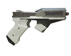 Sci-Fi Pistol 3D model game-ready ammo