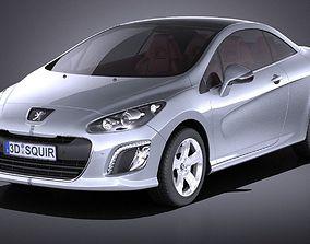 3D model Peugeot 308 CC 2013 VRAY