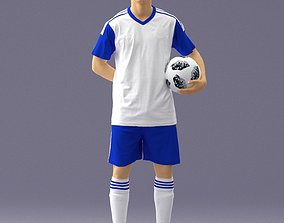 Soccer player 1114-7 3D Print Ready