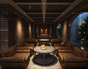 living Wine Cigar room 3D