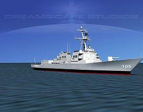 Burke Class Destroyer DDG 105 USS Dewey 3D
