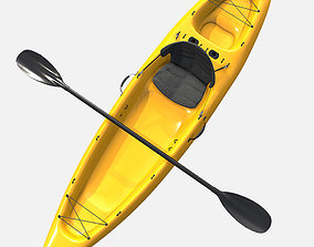 Low Poly PBR Kayak 3D asset
