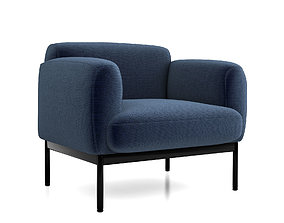 3D model Puff Puff Lounge Chair by Blu Dot
