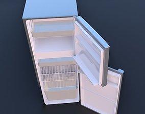 fridge kitchen and home appliance 3d model