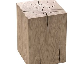 NATURAL SOLID OAK CUBE TABLE BY ROSE UNIACKE 3D model