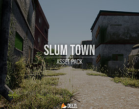 SLUM TOWN Modular Kit FBX OBJ DAE BLEND 3D model