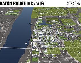 3D Baton Rouge Louisiana USA 50x50km